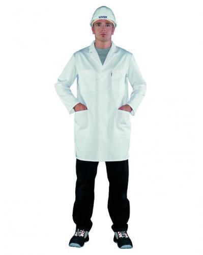 Laboratoriumjas maat 58 wit herenmodel 65% pol. 35% katoen (15319012)