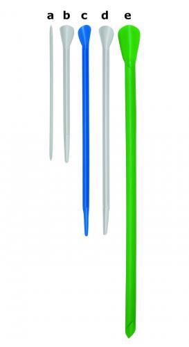 Spatel macro groen, 310mm, Ø10.5, 50ml, punt vorm (33820006)