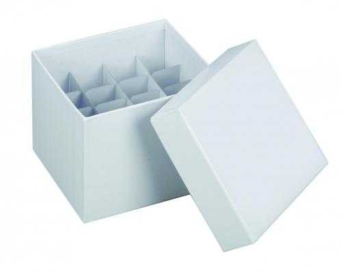 Cryobox 145x145x122 mm met deksel, wit (LLG6254570)