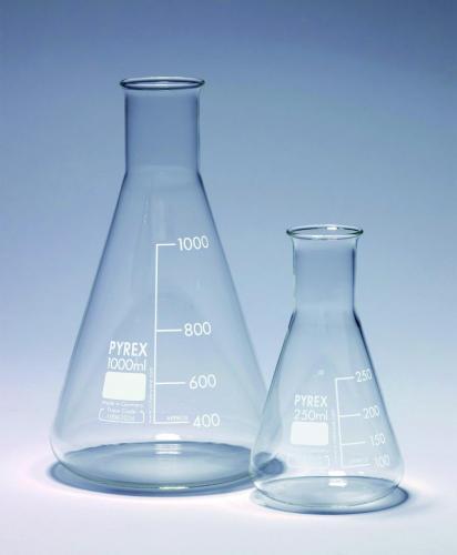 Erlenmeyerkolf 3000 ml, nauwhals, Pyrex, gegrad. (LLG6269017)