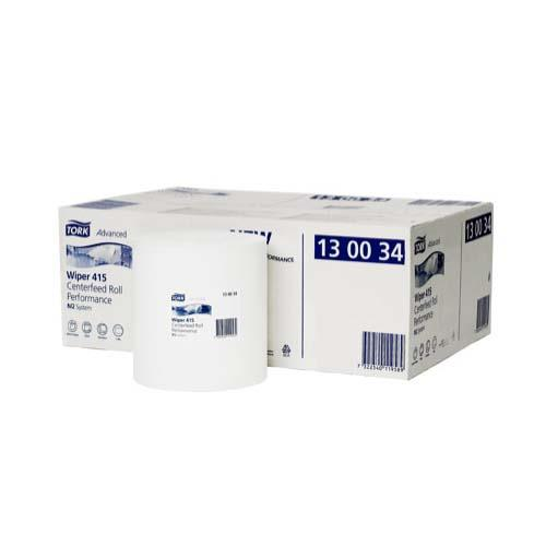 Poetsrol 1-laags, wit, M2 195 mm x 165 m, Centerfeed (64043)